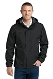 Eddie Bauer Rain Jacket Black with Steel Grey Thumbnail