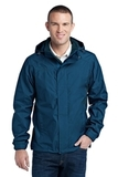 Eddie Bauer Rain Jacket Deep Sea Blue with Dark Adriatic Thumbnail