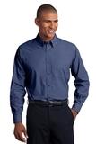 Tall Crosshatch Easy Care Shirt Deep Blue Thumbnail