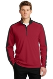 Sport-Wick Textured Colorblock 1/4-Zip Pullover Deep Red with Black Thumbnail