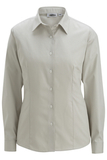 Women's No-iron Stay Collar Dress Shirt Silver Thumbnail