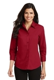 Women's 3/4-sleeve Easy Care Shirt Red Thumbnail