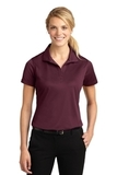Women's Micropique Moisture Wicking Polo Shirt Maroon Thumbnail