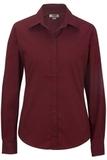 Women's Long Sleeve Service Shirt Burgundy Thumbnail