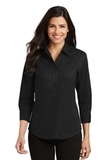 Women's 3/4-sleeve Easy Care Shirt Black Thumbnail