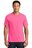 50/50 Cotton / Poly T-shirt Neon Pink Thumbnail