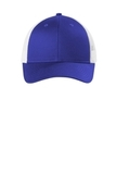 Low-Profile Snapback Trucker Cap Patriot Blue with White Thumbnail