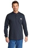 Carhartt Long Sleeve Henley T-Shirt Navy Thumbnail
