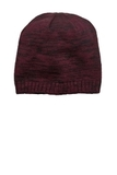 District Spaced-dyed Beanie Maroon with Black Thumbnail