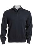87 Cotton/13 Nylon Pull Over Sweater Navy Thumbnail