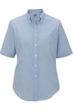 Women's Dress Button Down Oxford SS Blue Thumbnail
