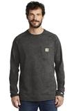Carhartt Force Cotton Delmont Long Sleeve T-Shirt Carbon Heather Thumbnail