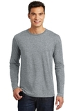 Long Sleeve Perfect Weight District Tee Heathered Steel Thumbnail