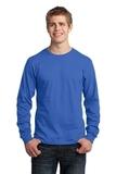 Long Sleeve 5.4-oz. 100 Cotton T-shirt Royal Thumbnail