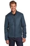Packable Puffy Jacket Regatta Blue with River Blue Thumbnail