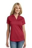Women's Diamond Jacquard Polo Rich Red Thumbnail