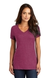 Women's Perfect Weight V-neck Tee Heathered Loganberry Thumbnail
