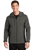 Active Hooded Soft Shell Jacket Grey Steel with Deep Black Thumbnail