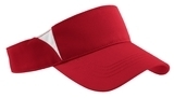 Dry Zone Colorblock Visor True Red with White Thumbnail