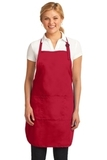 Easy Care Full-length Apron With Stain Release Red Thumbnail