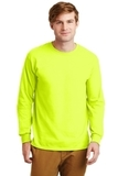 Ultra Cotton 100 Cotton Long Sleeve T-shirt Safety Green Thumbnail