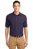 Extended Size Silk Touch Polo Shirt Eggplant Thumbnail