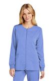 WonderWink Women's Premiere Flex Full-Zip Scrub Jacket Ceil Blue Thumbnail