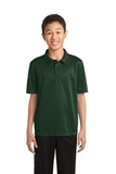 Youth Silk Touch Performance Polo Dark Green Thumbnail