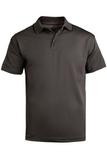 Men's Tipped Collar Dry-mesh Hi-performance Polo Steel Grey Thumbnail