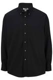 Men's Button Down Poplin Shirt LS Black Thumbnail