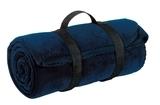 Value Fleece Blanket With Strap Navy Thumbnail