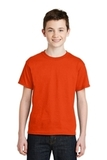 Youth Ultra Blend 50/50 Cotton / Poly T-shirt Orange Thumbnail