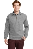 Super Sweats 1/4-zip Sweatshirt With Cadet Collar Oxford Thumbnail