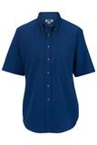 Women's Button Down Poplin Shirt SS Royal Thumbnail