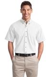 Short Sleeve Twill Shirt White Thumbnail