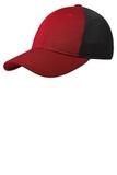 Pique Mesh Cap True Red with Black Thumbnail