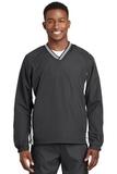 Tipped V-neck Raglan Wind Shirt Graphite with White Thumbnail