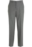 Edwards Men's Washable Wool Flat-front Dress Pant Dark Grey Thumbnail