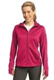 Women's Sport-tek Tech Fleece Full-zip Hooded Jacket Pink Raspberry Thumbnail