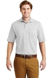 Spotshield Jersey Knit Polo With Pocket Ash Thumbnail