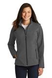 Women's Core Soft Shell Jacket Black Charcoal Heather Thumbnail