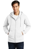 Port & Company Fan Favorite Fleece Full-Zip Hooded Sweatshirt White Thumbnail