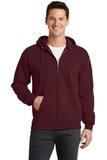 7.8-oz Full-zip Hooded Sweatshirt Maroon Thumbnail