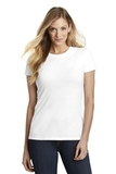 Women's Fitted Perfect Tri Tee White Thumbnail
