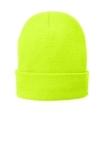Fleece-Lined Knit Cap Neon Yellow Thumbnail