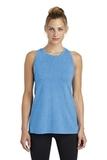 Women's Tri-Blend Wicking Tank Pond Blue Heather Thumbnail