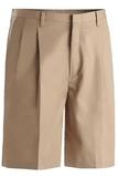 Men's Pleated Twill Short Khaki Thumbnail