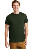 Ultra Blend 50/50 Cotton / Poly T-shirt With Pocket Forest Green Thumbnail