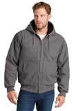 Washed Duck Cloth Insulated Hooded Work Jacket Metal Grey Thumbnail