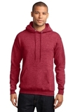 7.8-oz Pullover Hooded Sweatshirt Heather Red Thumbnail